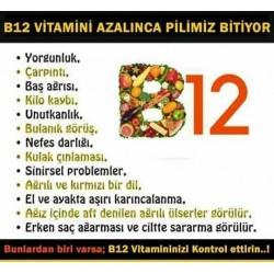 B12 Eksikliği Nasıl Anlaşılır? B12 Hangi Besinlerde Bulunur?B12 vitamin eksikligi ciddi bir hastalık mıdır? ?Besin değerleri nasil yok olur?
